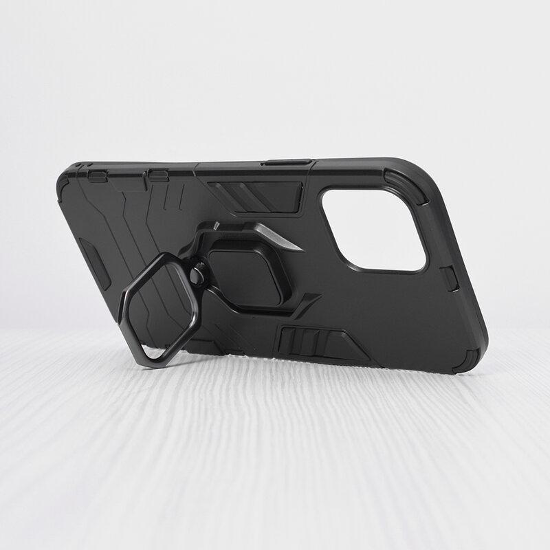 Husa iPhone 12 Techsuit Silicone Shield, Negru