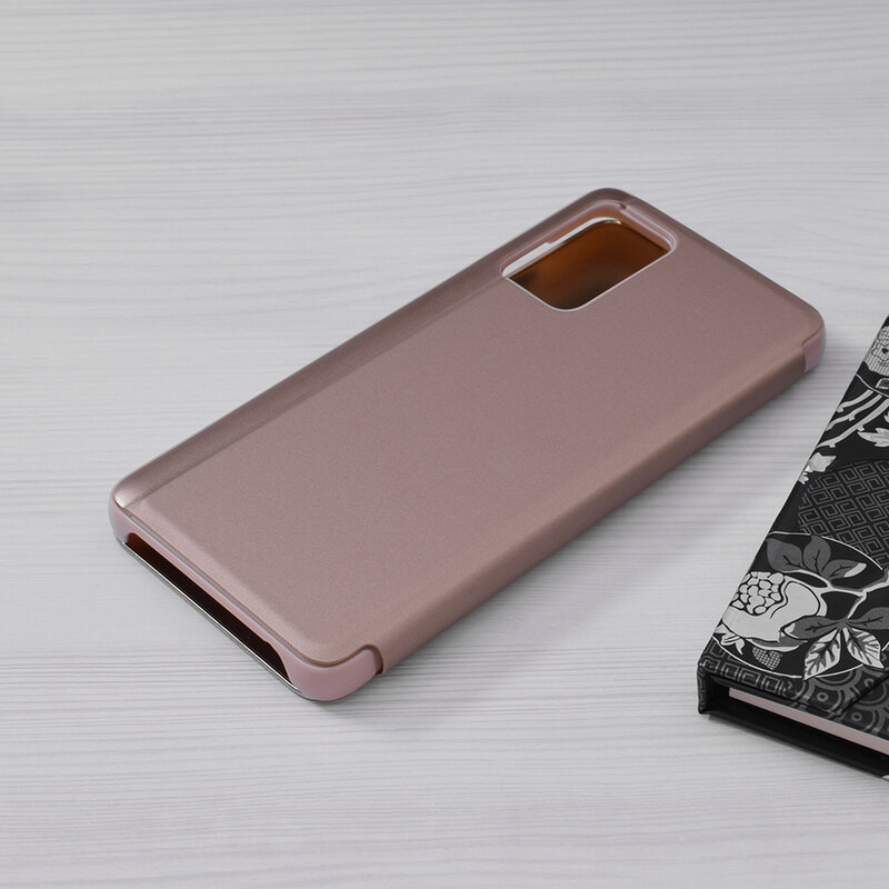 Husa Samsung Galaxy A72 5G Flip Standing Cover - Auriu