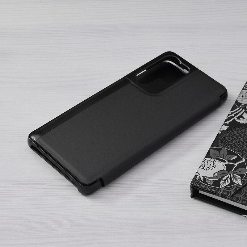 Husa Samsung Galaxy S21 Ultra 5G Flip Standing Cover - Negru