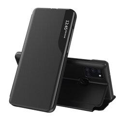 Husa Samsung Galaxy A21s Eco Leather View Flip Tip Carte - Negru