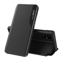 Husa Samsung Galaxy A51 Eco Leather View Flip Tip Carte - Negru