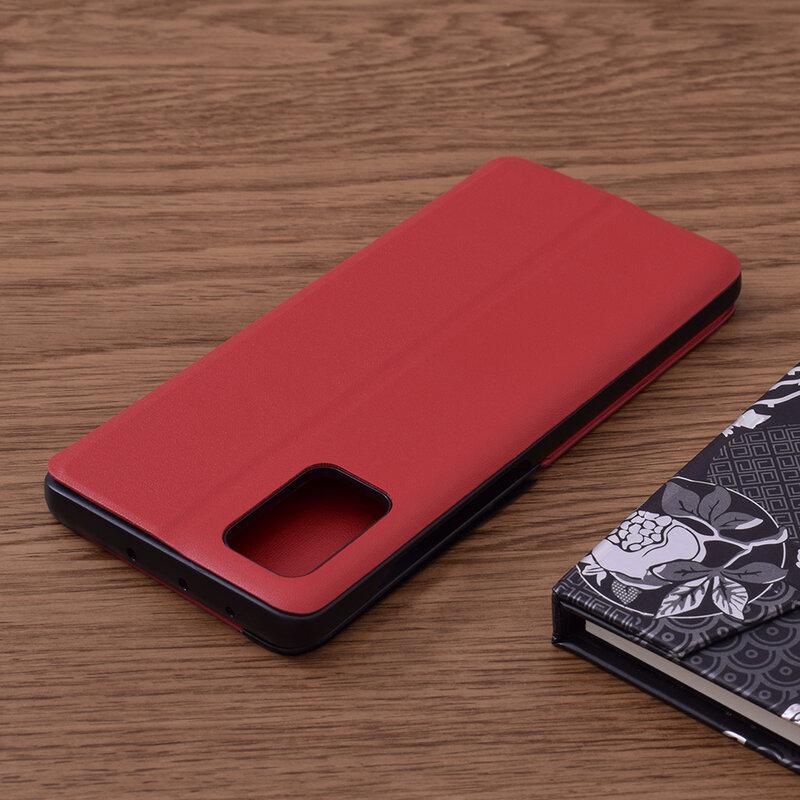Husa Samsung Galaxy A51 Eco Leather View Flip Tip Carte - Rosu