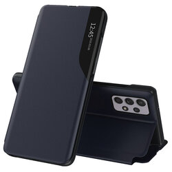 Husa Samsung Galaxy A72 5G Eco Leather View Flip Tip Carte - Albastru