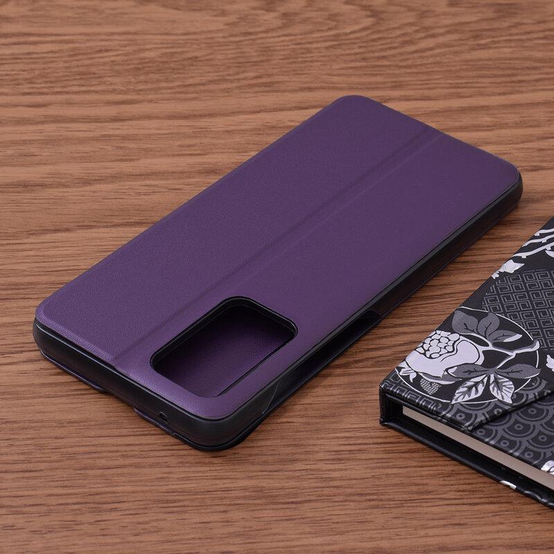 Husa Samsung Galaxy A72 5G Eco Leather View Flip Tip Carte - Mov
