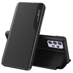 Husa Samsung Galaxy A52 5G Eco Leather View Flip Tip Carte - Negru