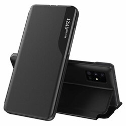 Husa Samsung Galaxy A71 Eco Leather View Flip Tip Carte - Negru