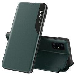 Husa Samsung Galaxy A71 Eco Leather View Flip Tip Carte - Verde