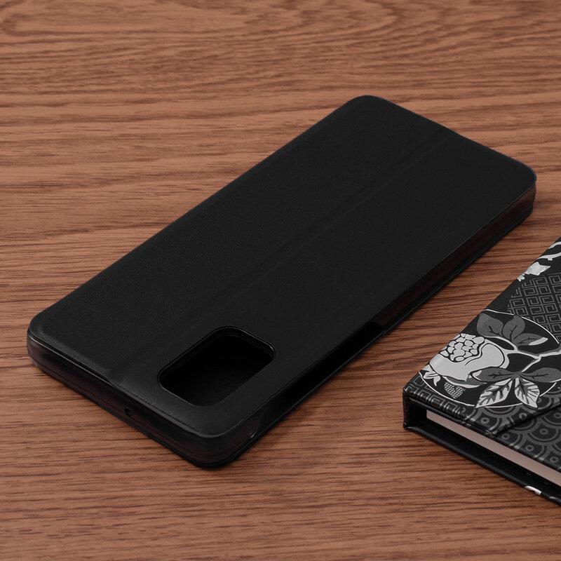 Husa Samsung Galaxy M31s Eco Leather View Flip Tip Carte - Negru