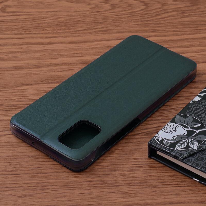Husa Samsung Galaxy M51 Eco Leather View Flip Tip Carte - Verde