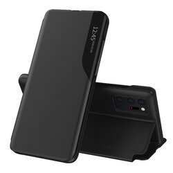 Husa Samsung Galaxy Note 20 Ultra 5G Eco Leather View Flip Tip Carte - Negru