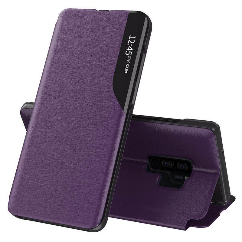 Husa Samsung Galaxy S9 Plus Eco Leather View Flip Tip Carte - Mov
