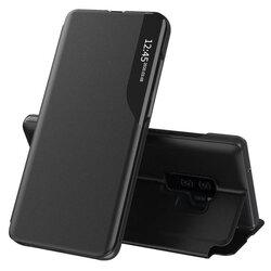 Husa Samsung Galaxy S9 Plus Eco Leather View Flip Tip Carte - Negru
