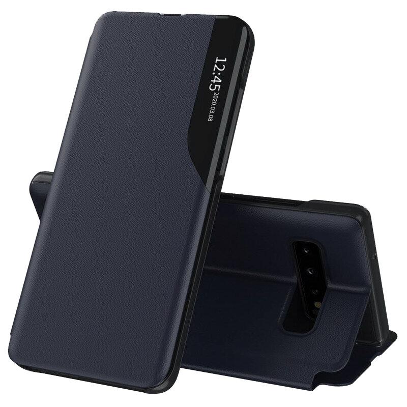 Husa Samsung Galaxy S10 Eco Leather View Flip Tip Carte - Albastru