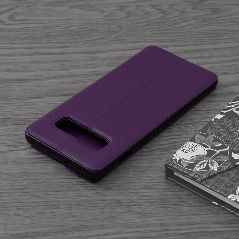 Husa Samsung Galaxy S10 Eco Leather View Flip Tip Carte - Mov
