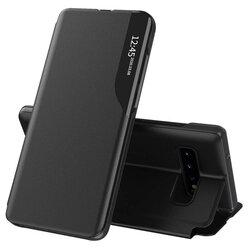 Husa Samsung Galaxy S10 Plus Eco Leather View Flip Tip Carte - Negru