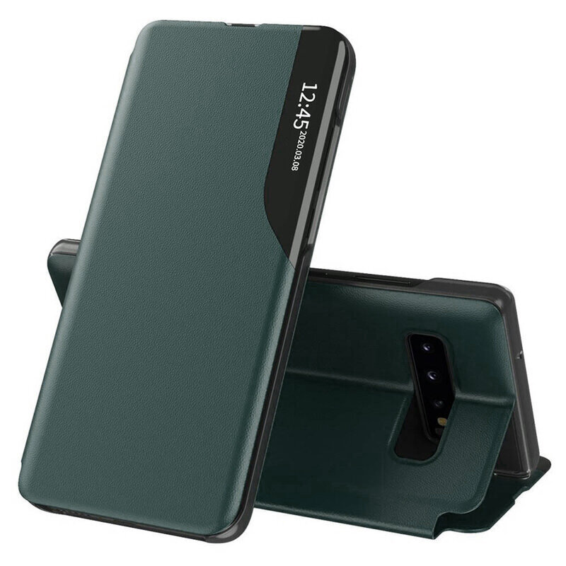 Husa Samsung Galaxy S10 Eco Leather View Flip Tip Carte - Verde