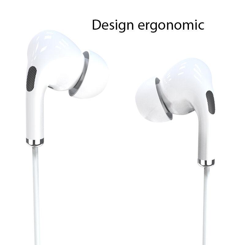 Casti cu fir in-ear Yesido YH34, stereo, microfon, Lightning, 1.2m, alb