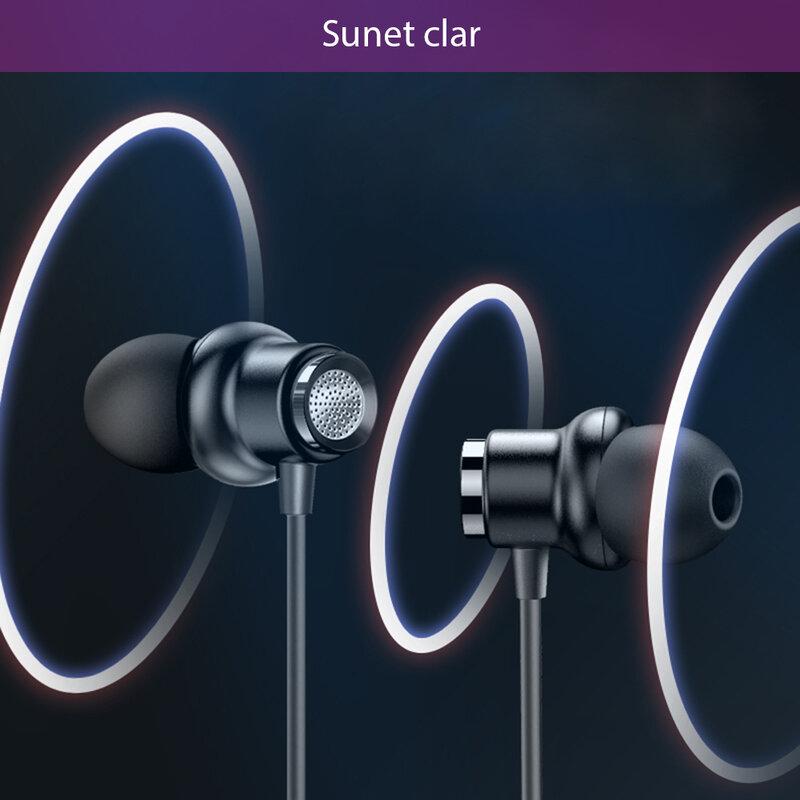 Casti cu fir in-ear Yesido YH31, stereo, microfon, Jack 3.5mm, 1.2m, negru