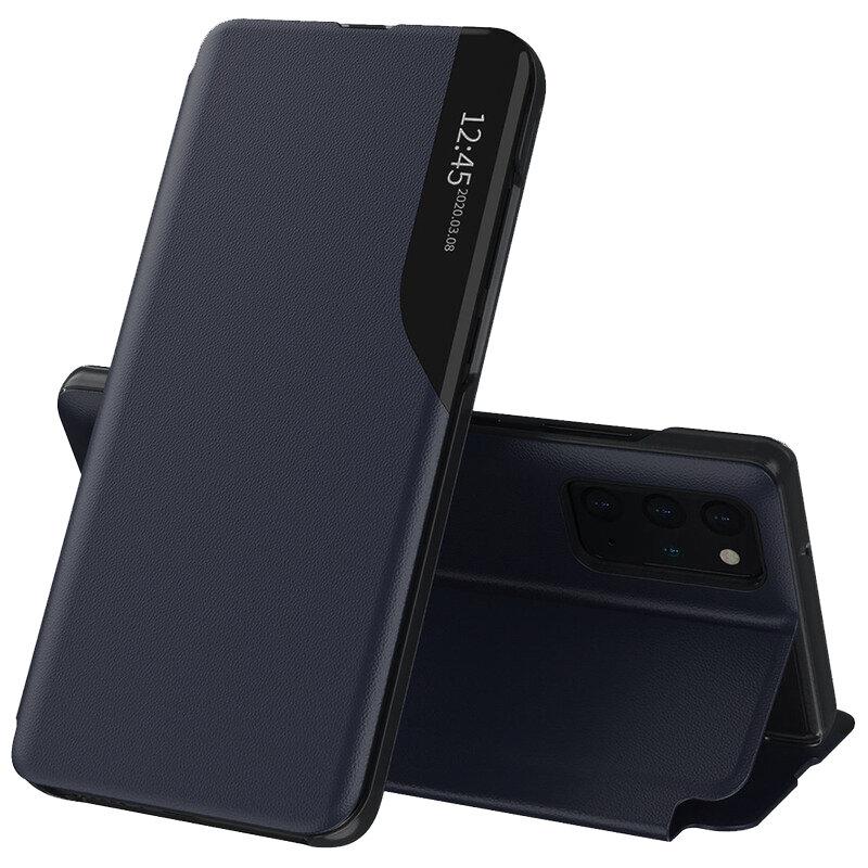 Husa Samsung Galaxy S20 Plus 5G Eco Leather View Flip Tip Carte - Albastru