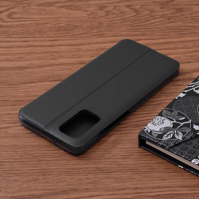 Husa Samsung Galaxy S20 Plus Eco Leather View Flip Tip Carte - Negru