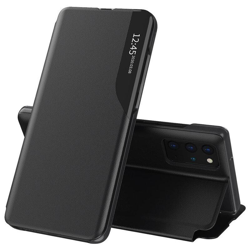 Husa Samsung Galaxy S20 Plus 5G Eco Leather View Flip Tip Carte - Negru