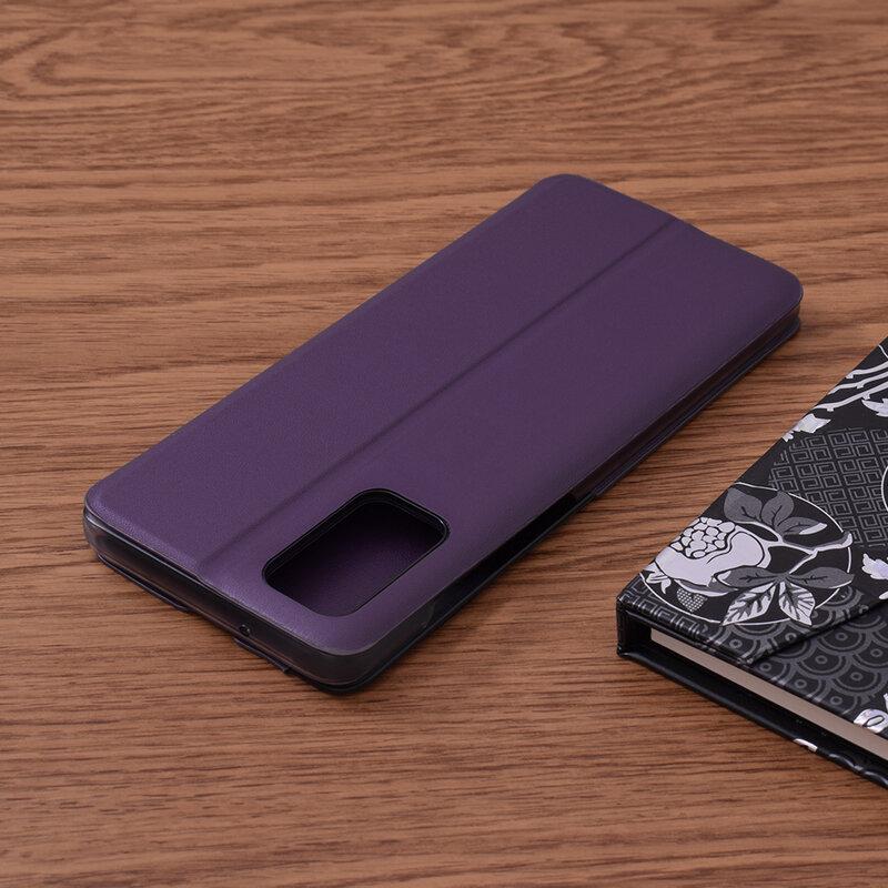 Husa Samsung Galaxy S20 Plus 5G Eco Leather View Flip Tip Carte - Mov