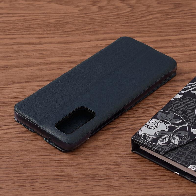 Husa Samsung Galaxy S20 5G Eco Leather View Flip Tip Carte - Albastru