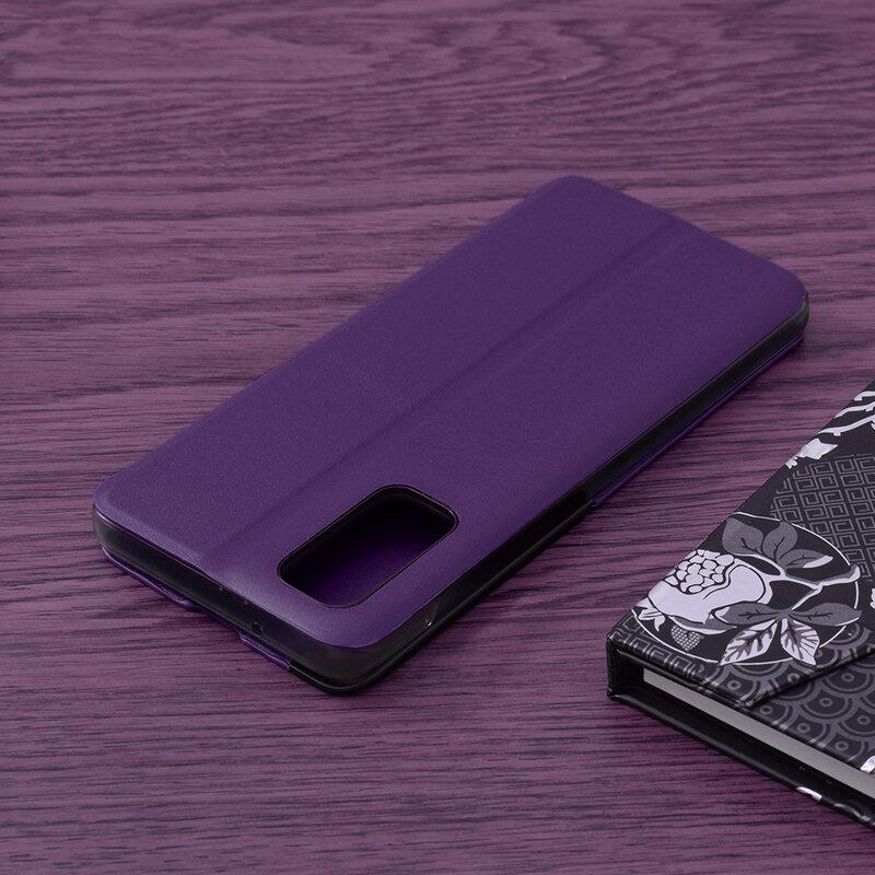 Husa Samsung Galaxy S20 5G Eco Leather View Flip Tip Carte - Mov