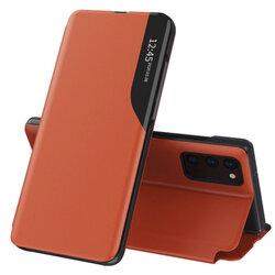 Husa Samsung Galaxy S20 5G Eco Leather View Flip Tip Carte - Portocaliu