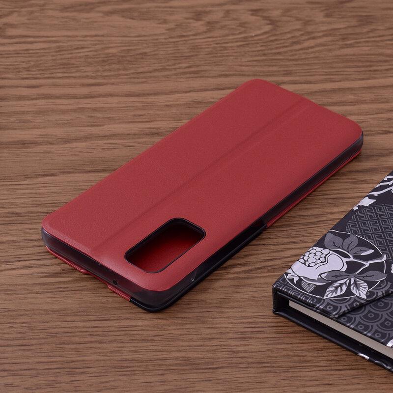 Husa Samsung Galaxy S20 5G Eco Leather View Flip Tip Carte - Rosu