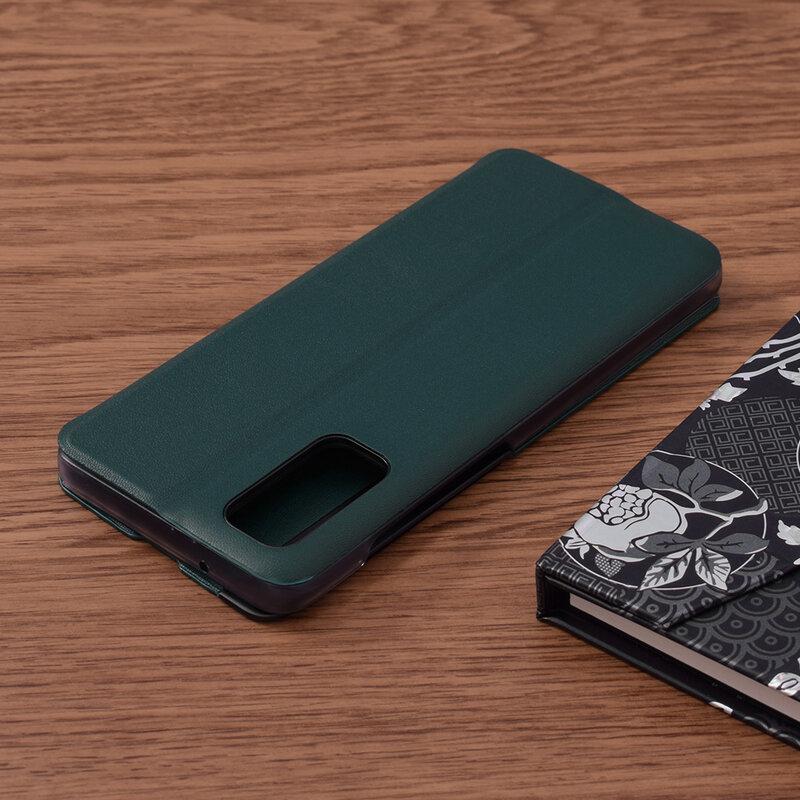 Husa Samsung Galaxy S20 5G Eco Leather View Flip Tip Carte - Verde