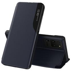 Husa Samsung Galaxy S20 Ultra 5G Eco Leather View Flip Tip Carte - Albastru