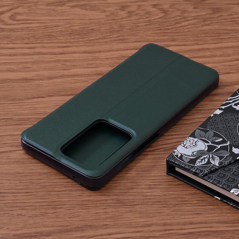 Husa Samsung Galaxy S20 Ultra 5G Eco Leather View Flip Tip Carte - Verde