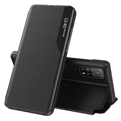 Husa Xiaomi Mi 10T Pro 5G Eco Leather View Flip Tip Carte - Negru