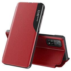 Husa Xiaomi Mi 10T 5G Eco Leather View Flip Tip Carte - Rosu