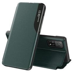 Husa Xiaomi Mi 10T 5G Eco Leather View Flip Tip Carte - Verde