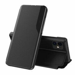 Husa iPhone 12 mini Eco Leather View Flip Tip Carte - Negru