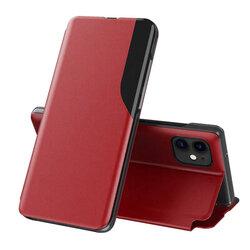 Husa iPhone 12 Eco Leather View Flip Tip Carte - Rosu