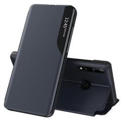 Husa Huawei Y7p Eco Leather View Flip Tip Carte - Albastru