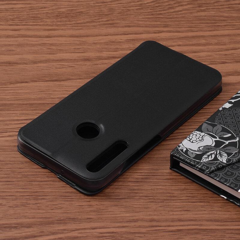 Husa Huawei P40 Lite E Eco Leather View Flip Tip Carte - Negru