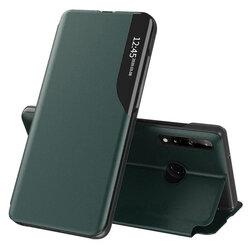 Husa Huawei P40 Lite E Eco Leather View Flip Tip Carte - Verde