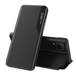 Husa Huawei P40 Lite Eco Leather View Flip Tip Carte - Negru