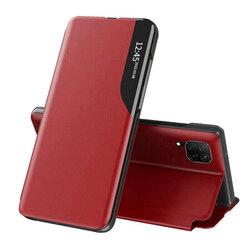 Husa Huawei P40 Lite Eco Leather View Flip Tip Carte - Rosu