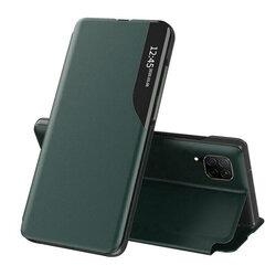 Husa Huawei P40 Lite Eco Leather View Flip Tip Carte - Verde