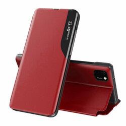 Husa Huawei Y5p Eco Leather View Flip Tip Carte - Rosu