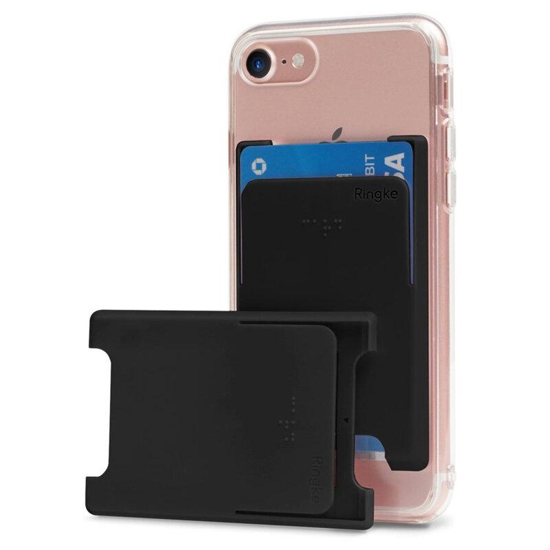 Suport carduri telefon Ringke, universal, cu adeziv 3M, negru