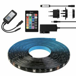 Banda LED RGB smart Sonoff cu telecomanda, amplificator, cablu alimentare, 5m
