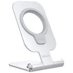 Suport birou incarcator iPhone 12 wireless MagSafe Nillkin, argintiu