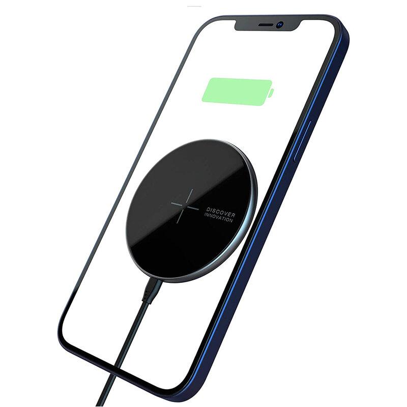 Incarcator wireless iPhone 12 MagSafe Nillkin, 10W, negru, NKT06