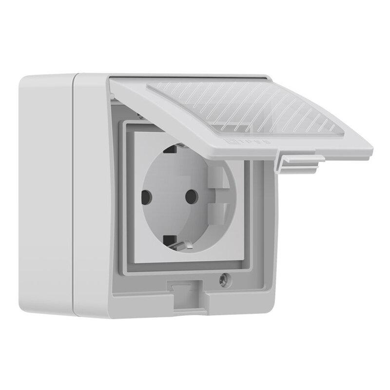 Priza inteligenta smart Wi-Fi Sonoff S55 DE, wireless, waterproof, 16A, alb